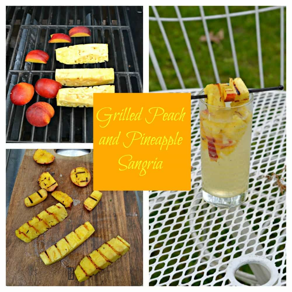 Throw some peaches and pineapple on the grill to make this incredible Grilled Peach and Pineapple Sangria Recipe