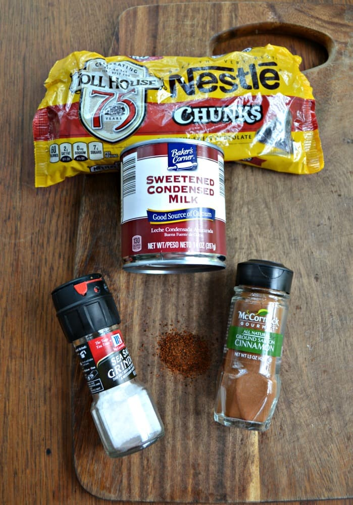Everything you need to make Mexican Hot Chocolate Fudge!