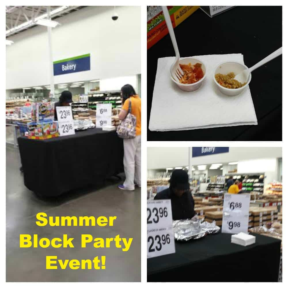 The Summer Block Party event at Sam's Club
