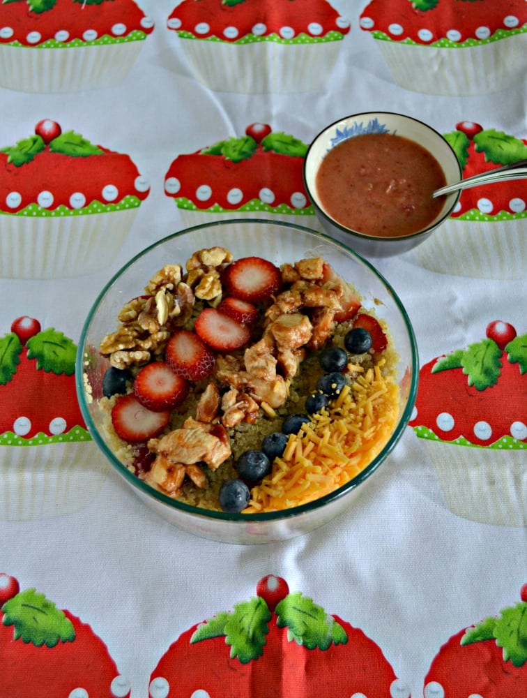 BBQ Chicken Quinoa Salad with Berries