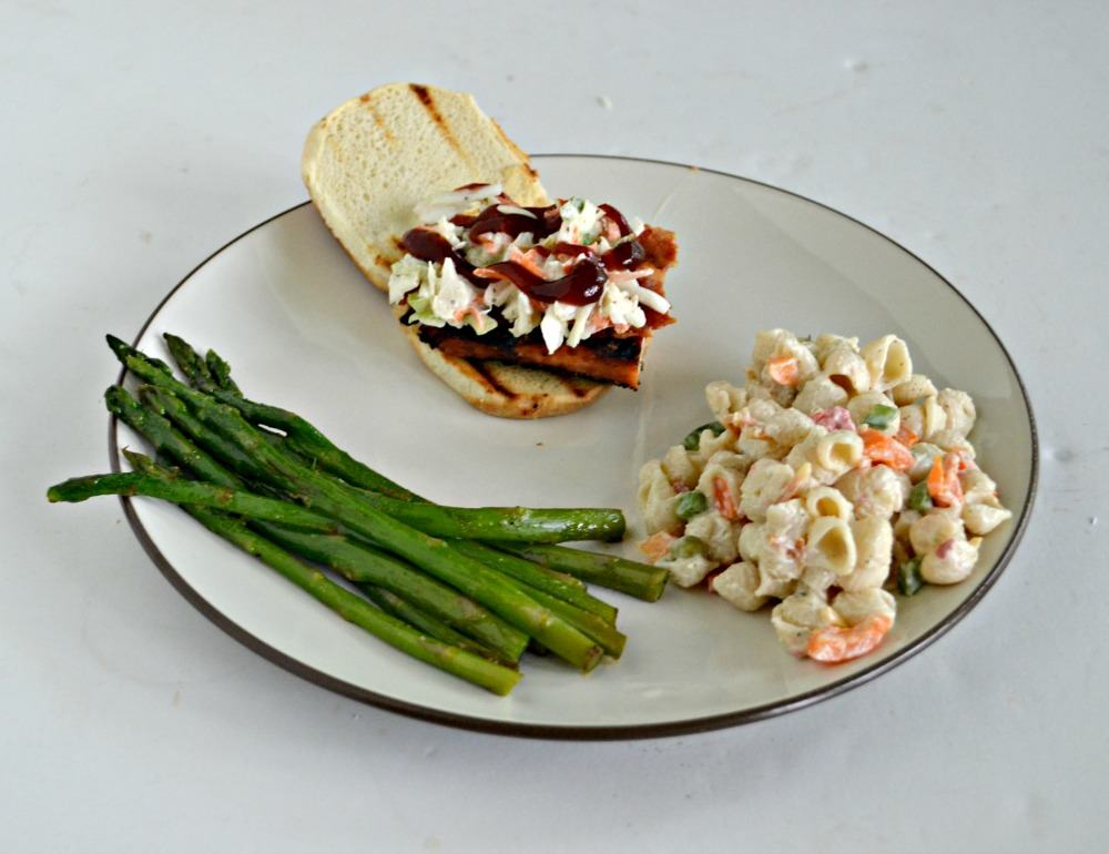 Love this tasty BBQ Chicken Slider with slaw and bacon!