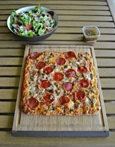 Italian Chopped Salad + Freschetta Pizza