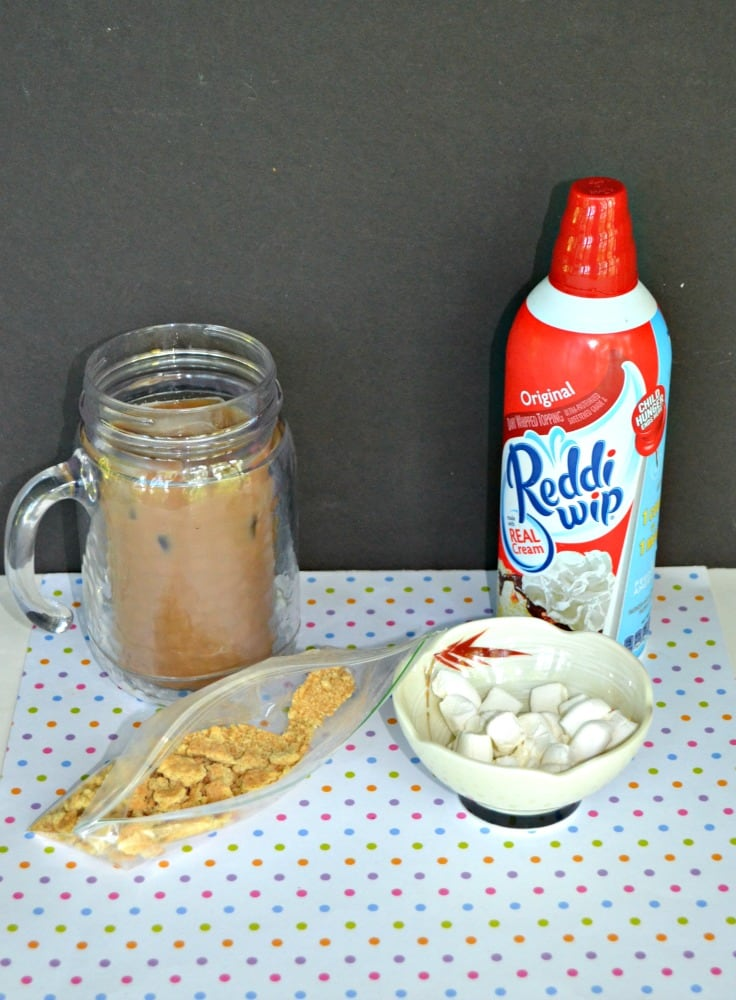 Just a handful of ingredients make a S'mores Iced Coffee