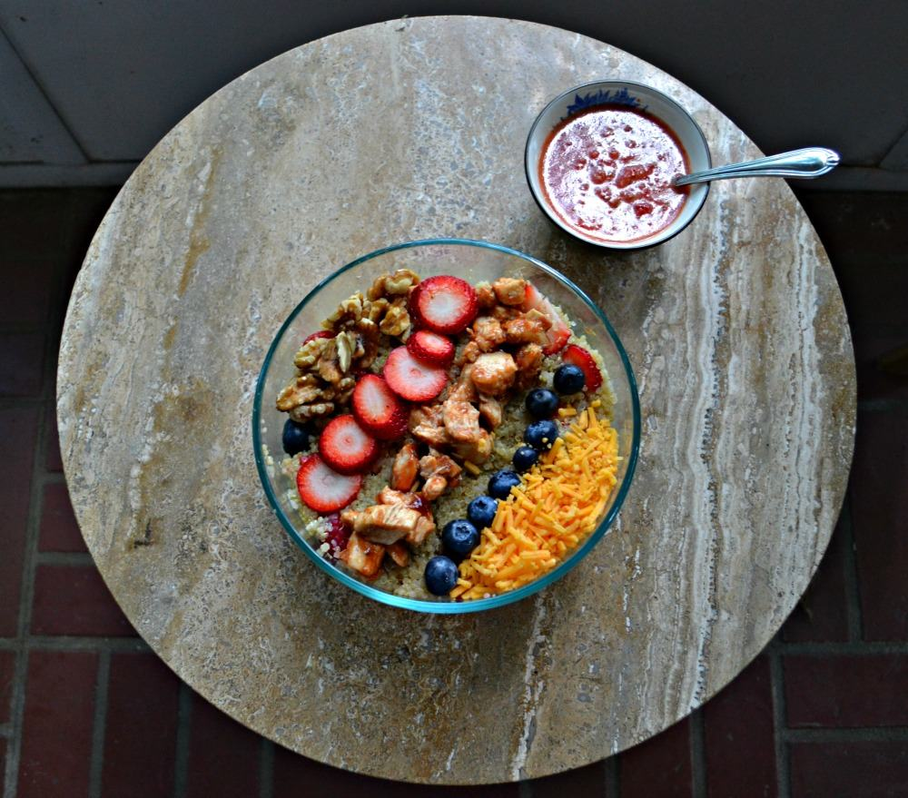 Make a delicious BBQ Chicken Quinoa Salad with Berries for your next summer cookout