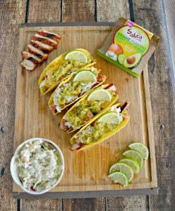 BBQ Pork Tacos with Slaw and Guacamole