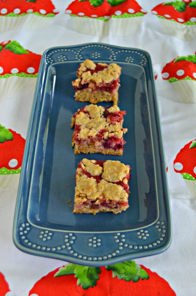 Bite into these sweet and tart Berry Rhubarb Bars