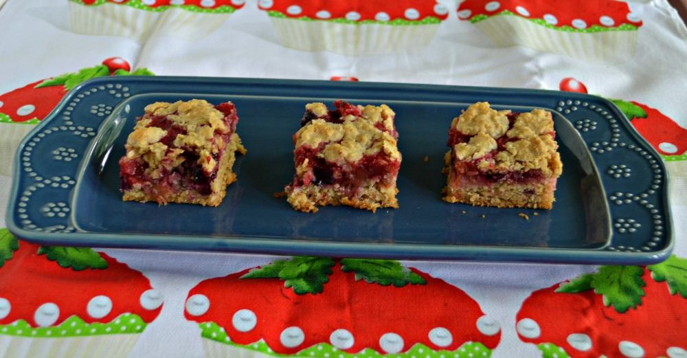 Delicious Berry Rhubarb Bars will be the hit at any party!