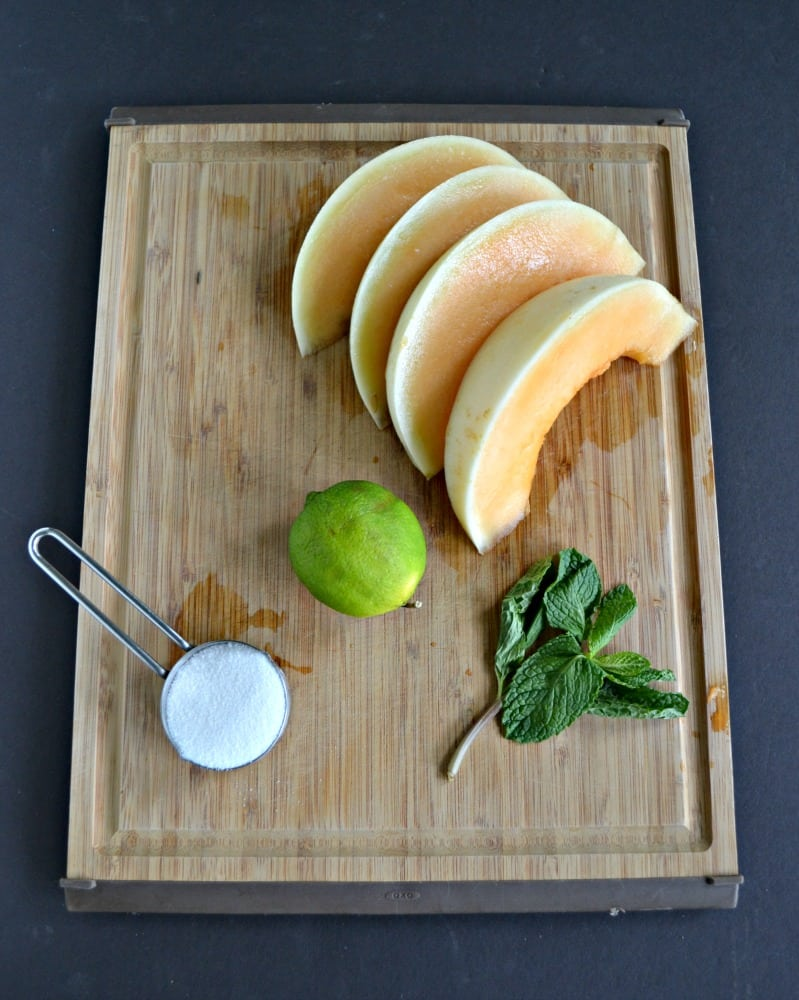 Just a few ingredients make a refreshing Cantaloupe Agua Fresca