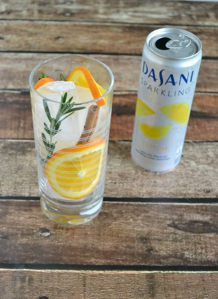 Refresh with a delicious Citrus Rosemary Spice infused sparkling water