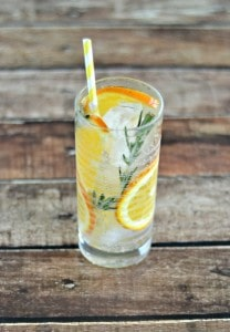 Citrus Rosemary Spice Infused Sparkling Water