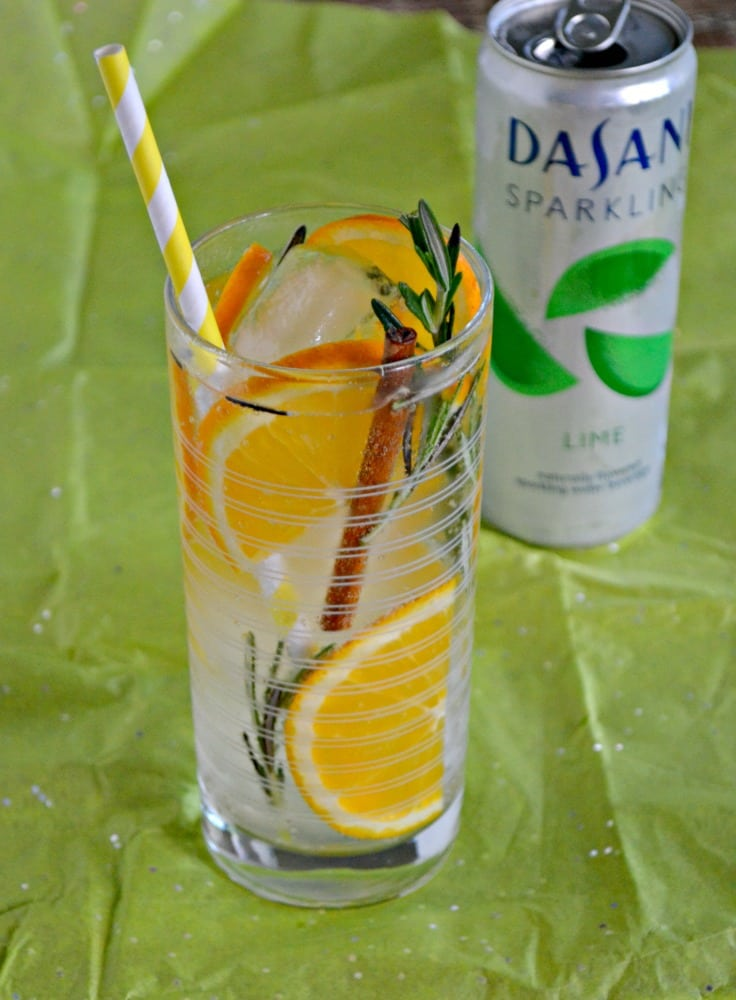 This summer grab a DASANI® Sparkling lime water and infuse it with Rosemary, Cinnamon, and Oranges