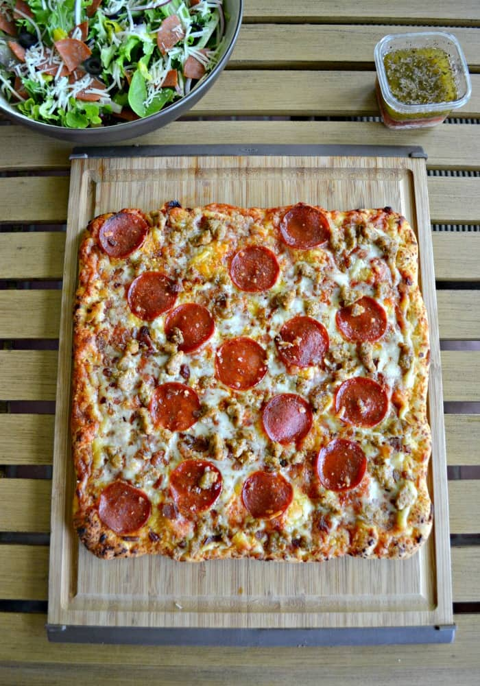 Enjoy a tasty Freschetta Pizza with high quality ingredients for dinner