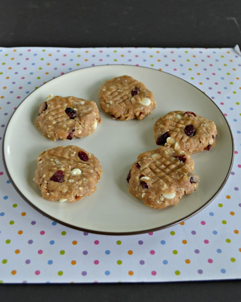 No Bake White Chocolate Cranberry Cookies - Hezzi-D's Books and Cooks