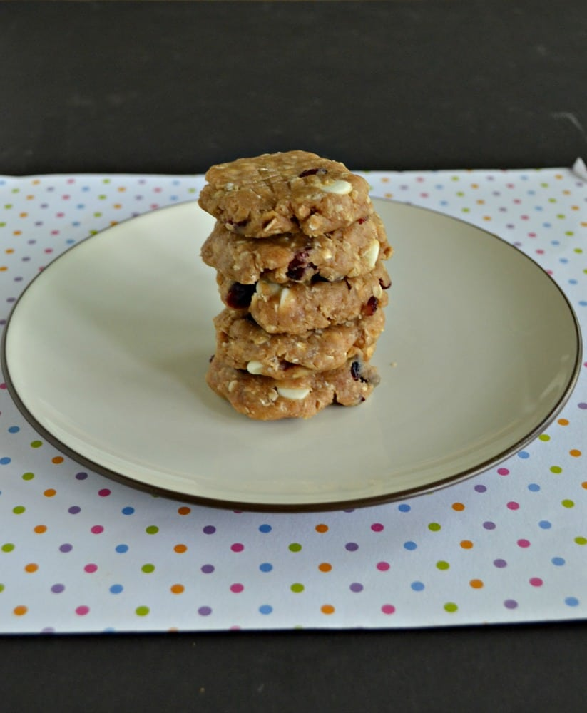 Don't turn on the oven! Make these No Bake White Chocolate Cranberry Cookies instead