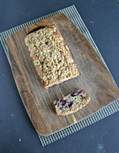 Cherry Bread with Streusel Topping #BreadBakers