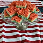 Red, White, and Blue Rice Krispies Treats #SundaySupper