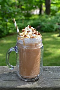 This Salted Caramel Iced Coffee is perfect for summer