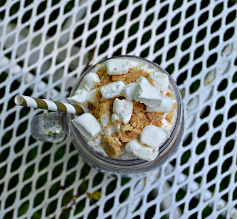 Grab a straw and enjoy this S'mores Iced Coffee