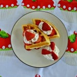 Strawberry Shortcake Waffles with Cinnamon Whipped Cream