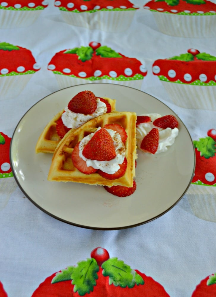 Is it breakfast or dessert? It can be either one with these Strawberry Shortcake Waffles