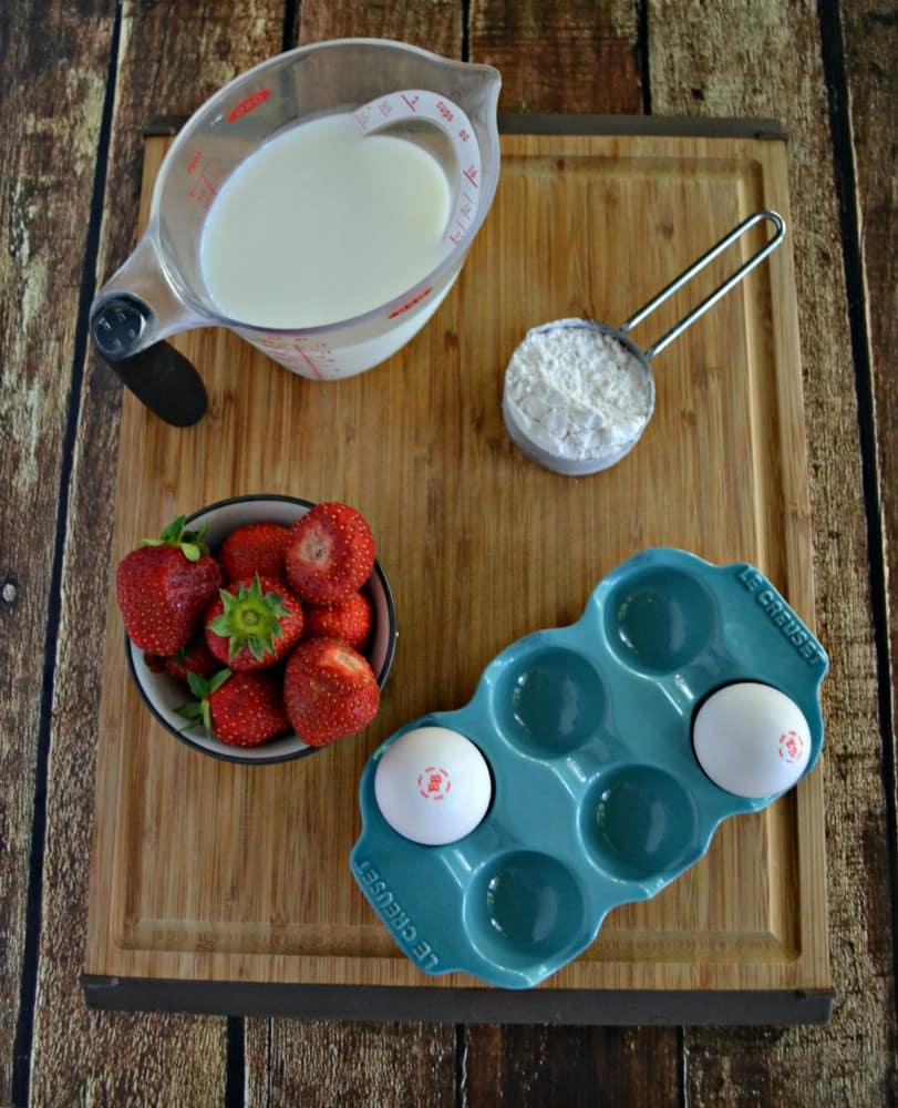 Love these delicious Strawberry Shortcake Waffles for breakfast or dessert!
