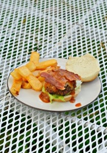 Bourbon BBQ Bacon Burger Sliders #SundaySupper