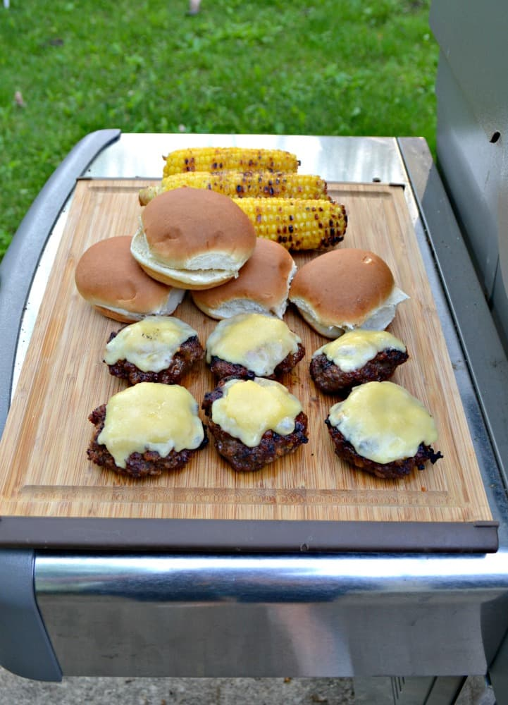Grill these tasty burgers brushed with homemade Bourbon BBQ Sauce then topped with bacon, cheese, and lettuce