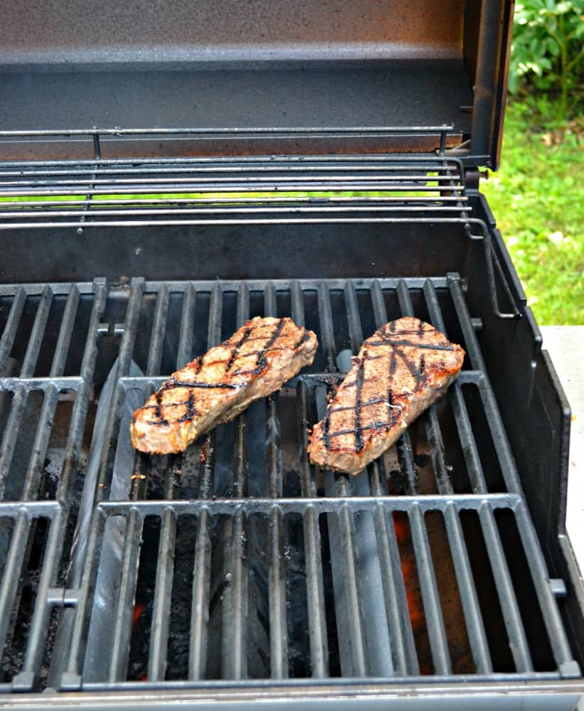 Fire up the grill with these Strip Steaks rubbed with Santa Maria Dry Rub