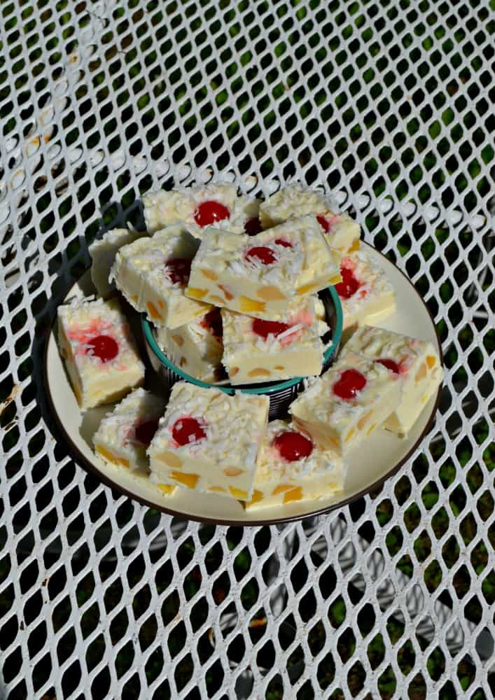 Bite into the tropics with this Pina Colada Fudge!