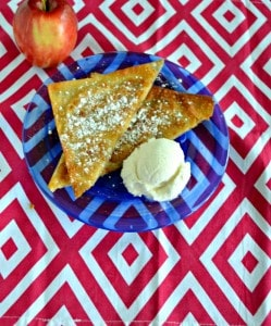 Looking for an awesome apple dessert? Try these Wonton Apple Pockets sprinkled with powdered sugar and served with ice cream.