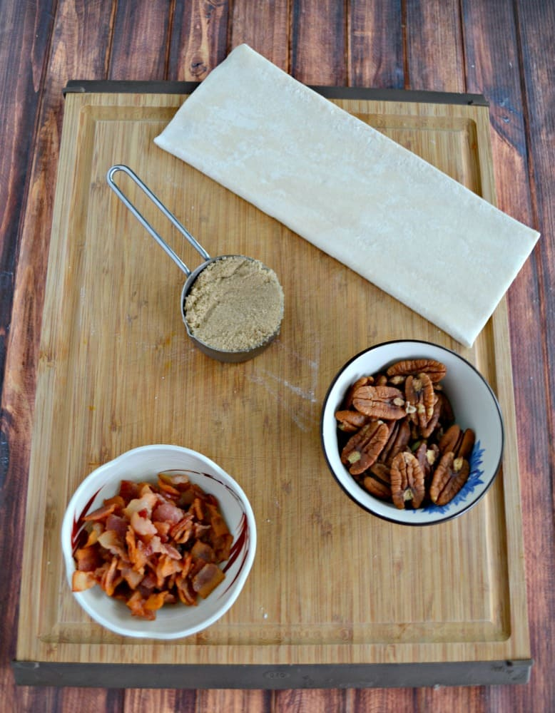 Everything you need to make Bacon Pecan Sticky Buns!
