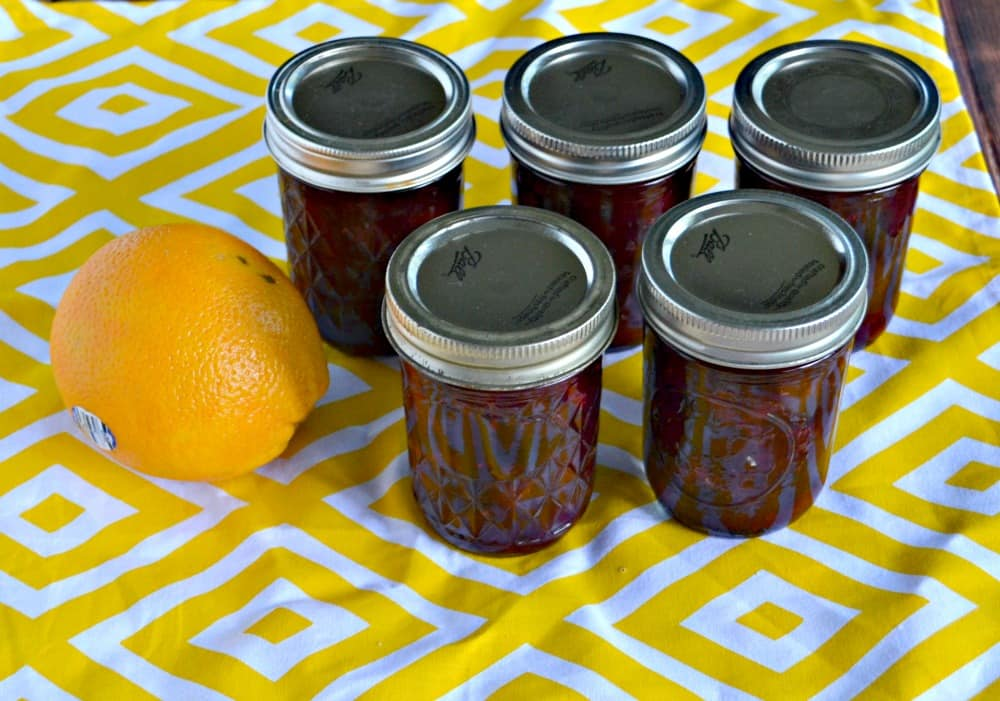 Blood and Sand Jam, named after the cocktail, is a delicious combination of oranges and cherries. It's great on toast or served over cream cheese with crackers.