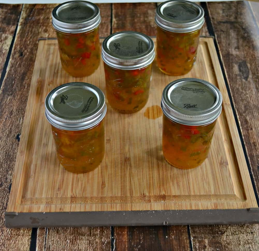 Love this sweet and spicy Jalapeno Jam over cream cheese and served with crackers