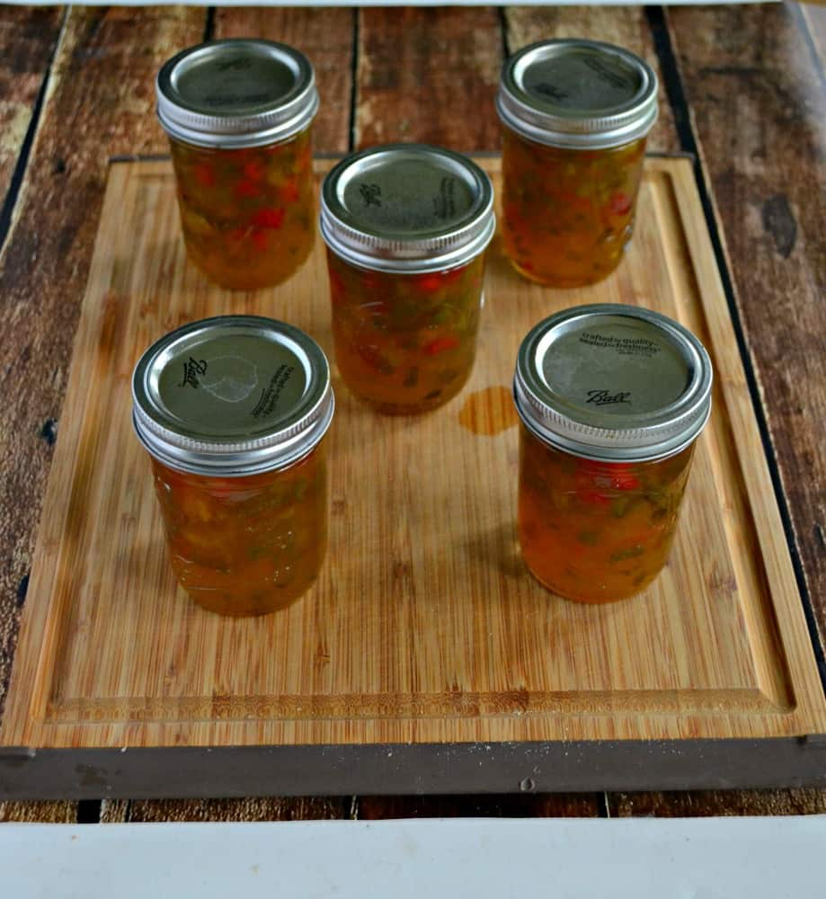 Jalapeno Jam is a sweet and spicy jam perfect served with cheese and crackers