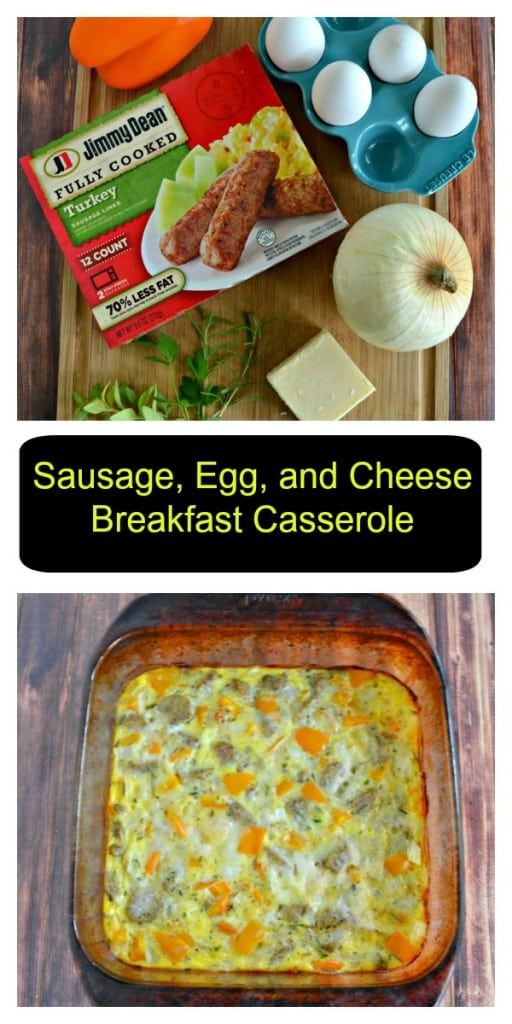 Check out my super easy Sausage, Egg, and Cheese Breakfast Casserole!