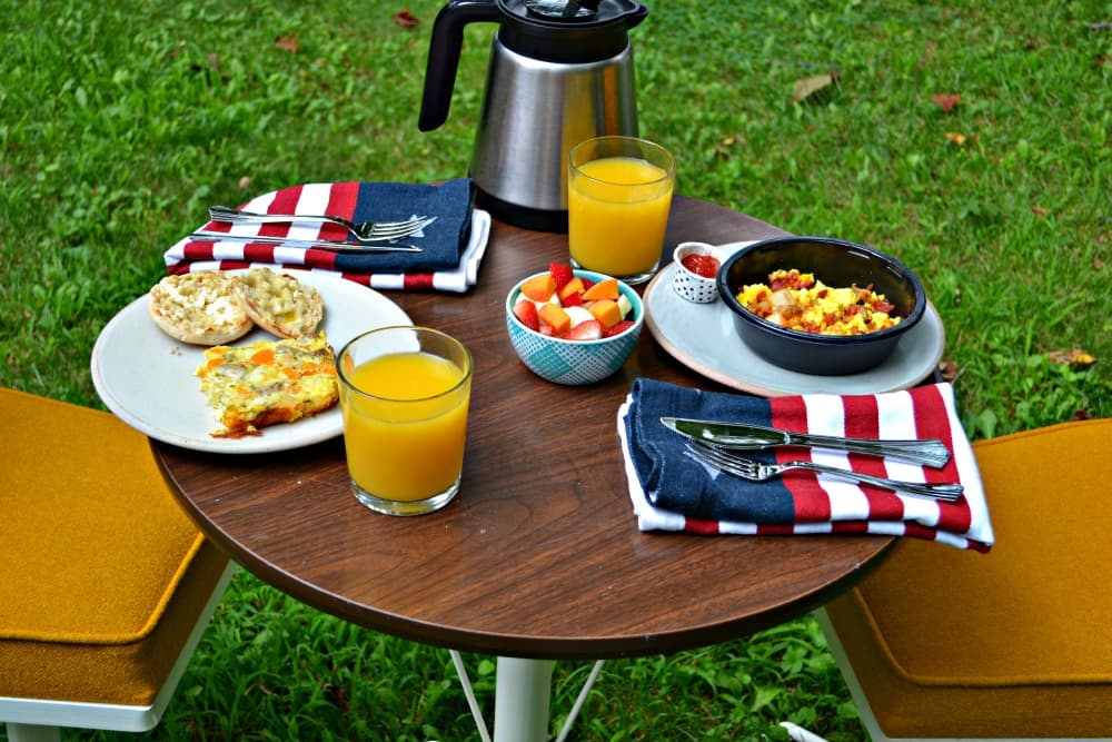 Enjoy the sunshine with Jimmy Dean breakfast products and my easy Sausage, Egg, and Cheese Breakfast Casserole