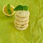 Lemon Basil Cookies with Mint #CreativeCookieExchange