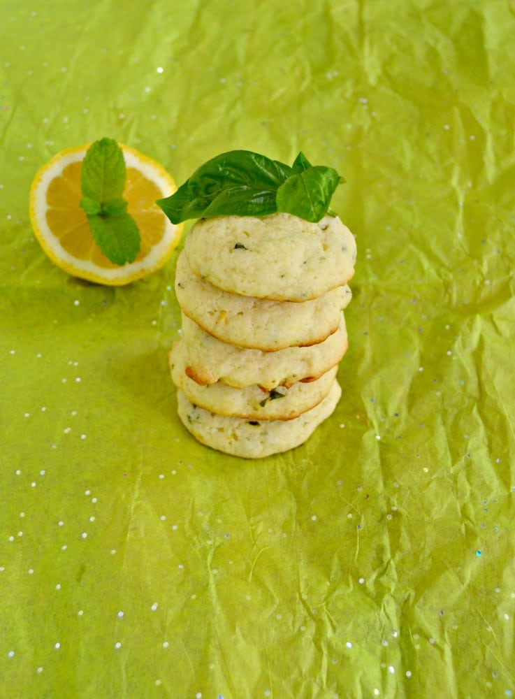 Lemon Basil Cookies with Mint
