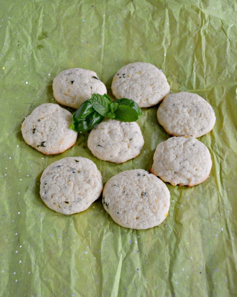Bite into these bright Lemon Basil Cookies with Mint!