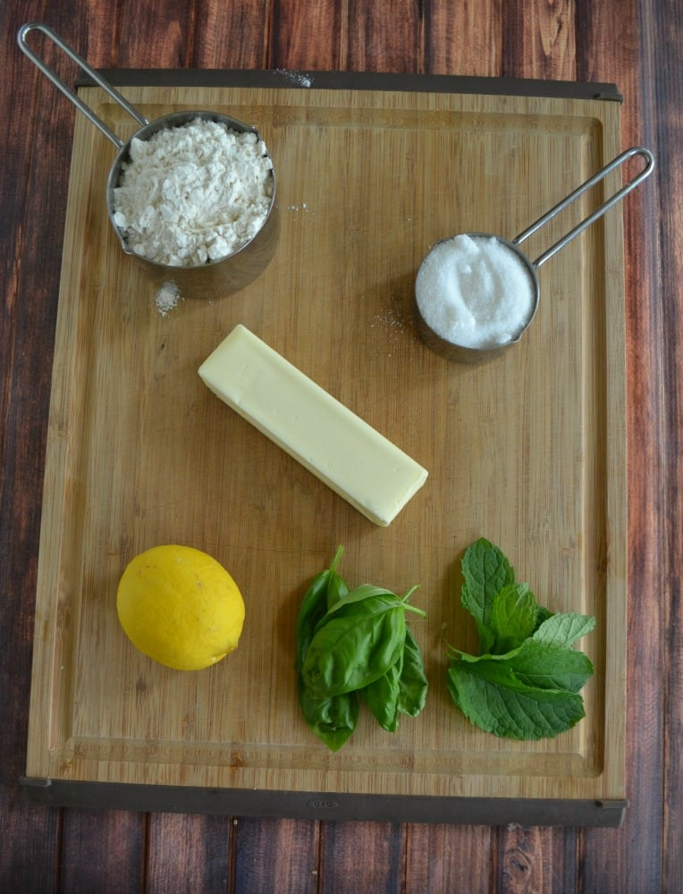 Everything you need to make Lemon Basil Cookies with Mint