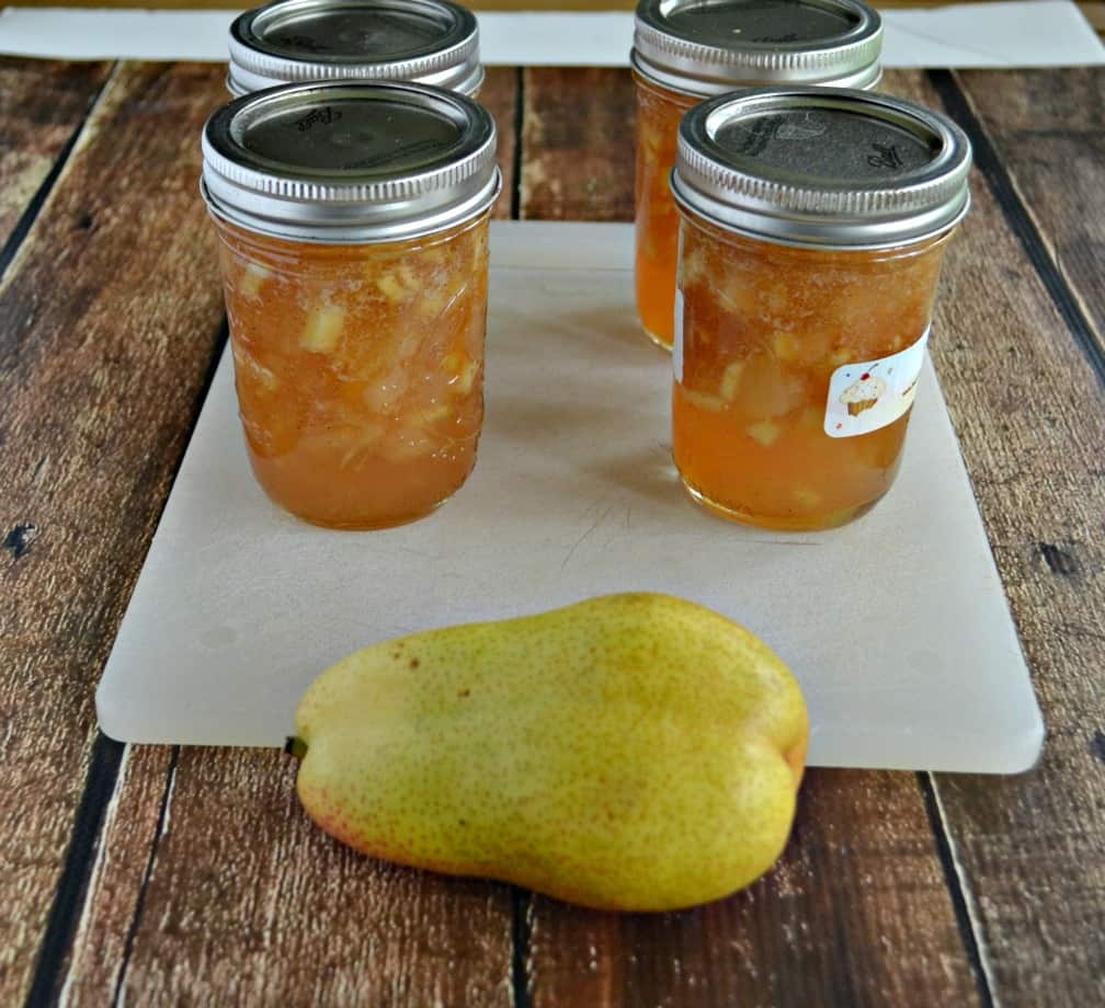 This spiced Pear Ginger Jam is great for toast and biscuits