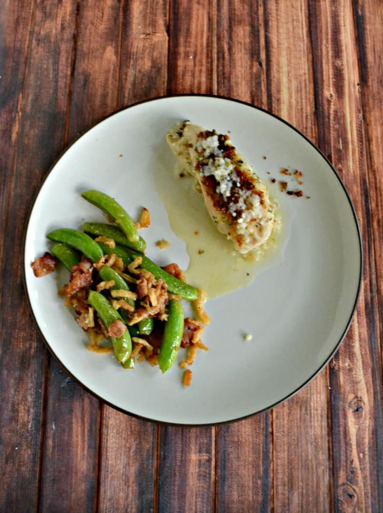 Like bacon? You'll love these Peas with Bacon and Crispy Onions!