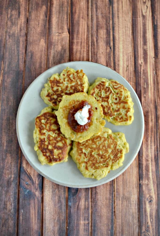 Have extra corn on the cob? Make these Fresh Corn Cakes for a side dish!