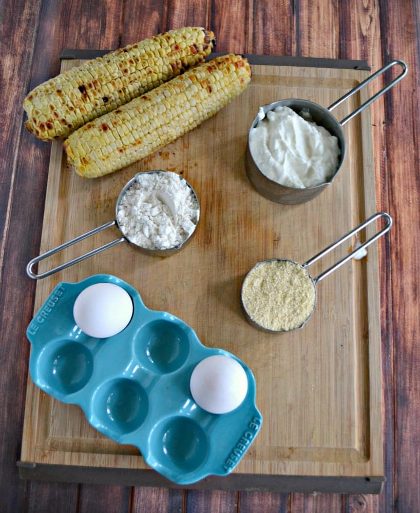 Everything you need to make a Fresh Corn Cakes