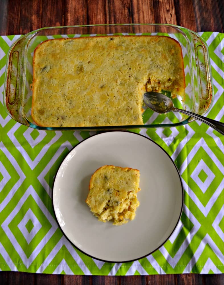 I love the sweet and spicy flavors in this Corn Pudding with Jalapenos and Green Chilies