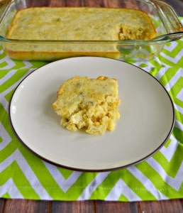 Grab a spoon and dig into this delicious Corn Pudding with Green Chilies! It's a tasty side dish that goes well with a variety of meals.