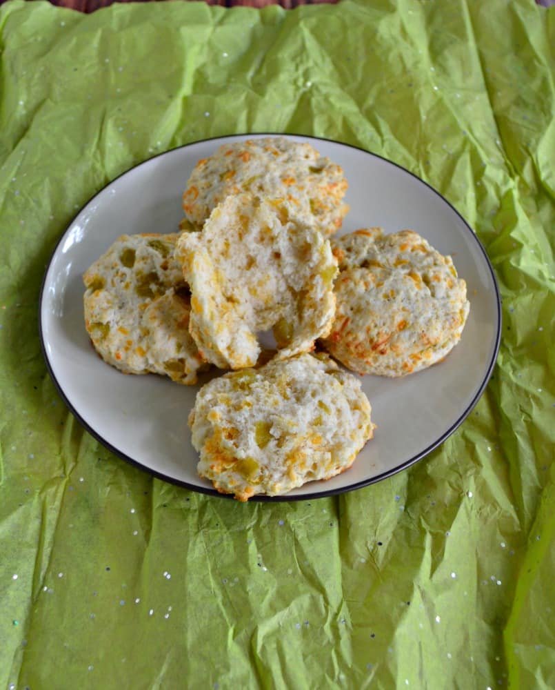 Green Chile and Cheddar Biscuits