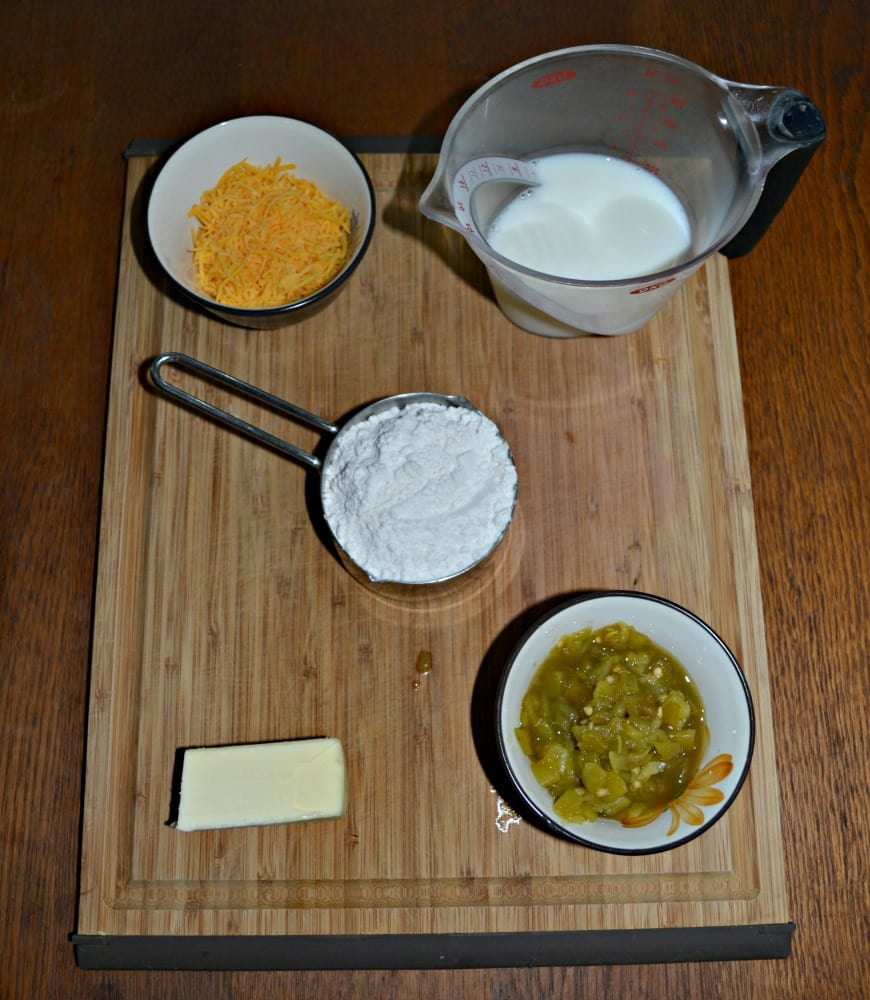Everything you need to make Green Chile and Cheddar Biscuits