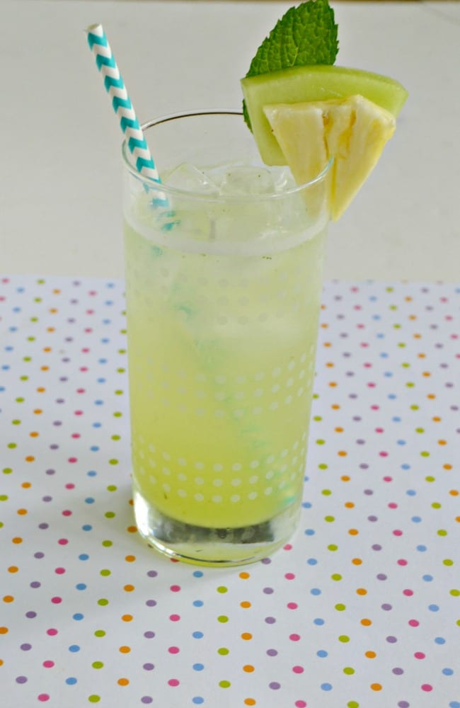 Cool off with a refreshing Honeydew Agua Fresca with Pineapple!