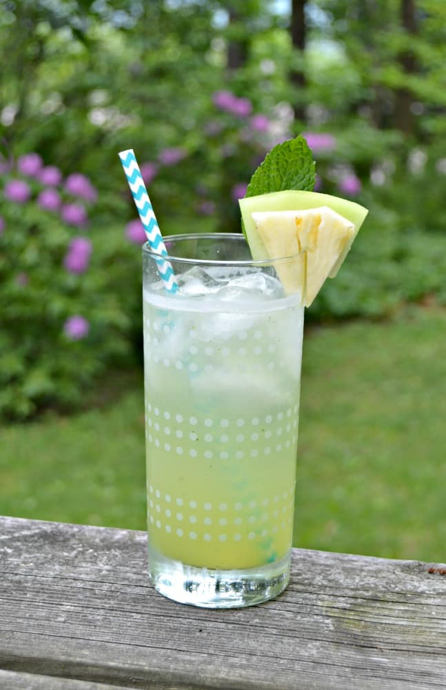 Not only is this a gorgeous beverage, but this Honeydew Agua Fresca tastes great too!